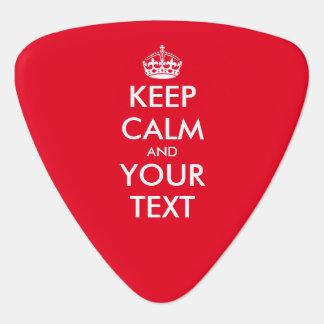 Custom color keep calm and your text guitar picks