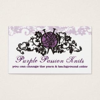 custom color knitting needles yarn goth lace card