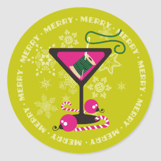 custom color martini sewing thread Christmas label