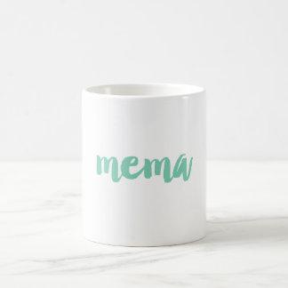 Custom Color Mema Grandma Mug | Grandparents Gifts