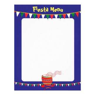 Custom color Mexican food menu letterhead