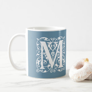 Custom Color Monogram M Renaissance Style Coffee Mug