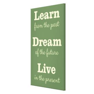 Custom color Motivational Quote canvas print