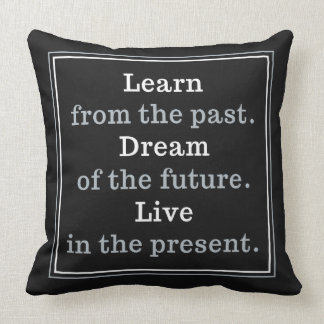 Custom color Motivational Quote throw pillows