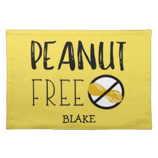 Custom Color Peanut Free Peanut Allergy Kids Placemat