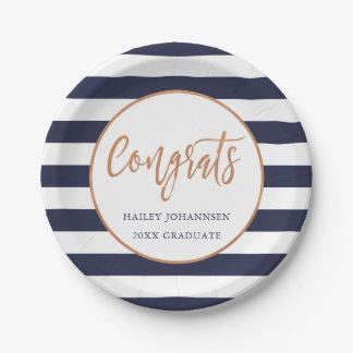 Custom Color Personalized Graduation Party Plates