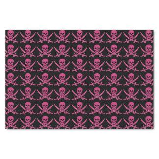 Custom Color Pirate/Skulls Pink/Black Tissue Paper