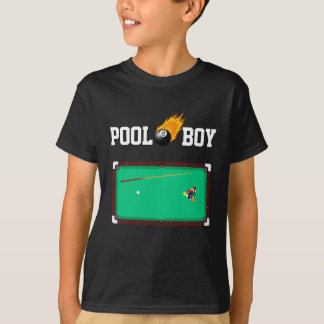Custom Color Pool Boy Fiery Eight Ball T Shirt