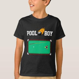 Custom Color Pool Boy Fiery Eight Ball T Shirt