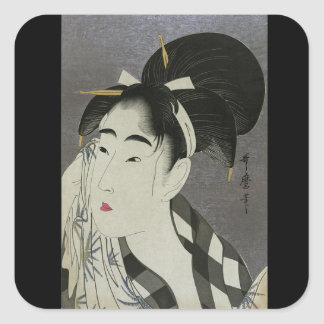 Custom Color Pretty Geisha Ancient Japan Stickers