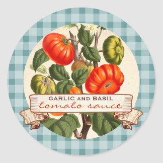Custom color red sauce tomato canning label