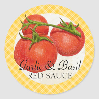 custom color red sauce tomato sauce canning label