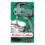 Custom color retro stand mixer baking bakery card business card template