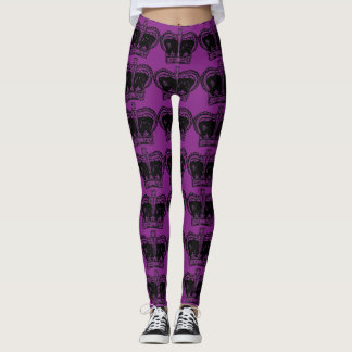 Custom color Royal Crown Leggings
