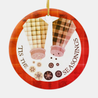 Custom color salt pepper food Christmas ornament