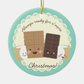 Custom color smores baking Christmas ornament