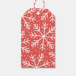 Custom Color Snowflake Holiday Gift Tag Pack Of Gift Tags