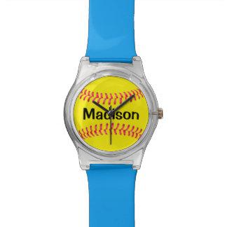Custom Color Softball Kids Watch