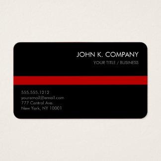 Custom Color Stripe Clean Black Business Card
