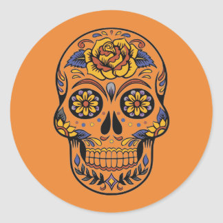 Custom Color Sugar Skull Day of the Dead Sticker