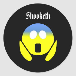 Custom Color/Text Funny Shooketh OMG Emoji Sticker