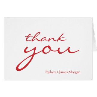 Custom color, thank you cards
