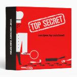 Custom color top secret chef recipe binder