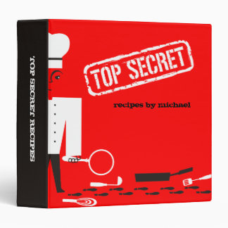 Custom color top secret chef recipe binder