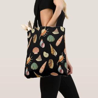 Custom Color Vintage Colorful Seashell Tote Bag