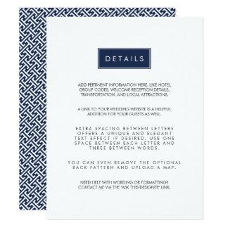 "Custom Color Wedding Guest Information Card 4.25"" X 5.5"" Invitation Card"