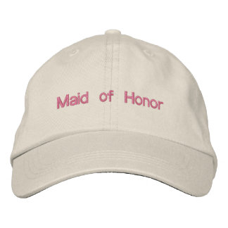 Custom Color Wedding Maid of Honor Wording Embroidered Hat