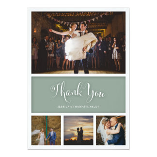 "Custom Color Wedding or Baby Thank You Photo Card 5"" X 7"" Invitation Card"