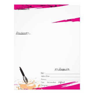 Custom color whisk dough batter bakery cake baking letterhead