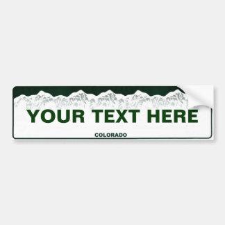 Custom Colorado Bumper Sticker
