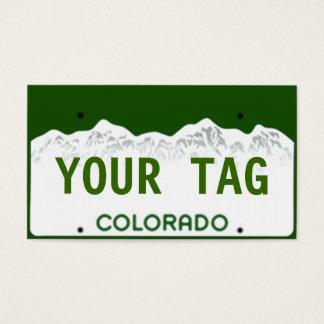 Custom Colorado License Plate Business Card