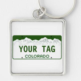 Custom Colorado License Plate Keychain