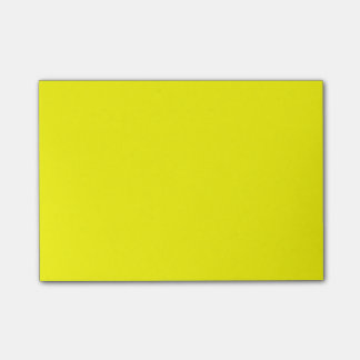 Custom colored Highlighter Yellow Post-it Notes