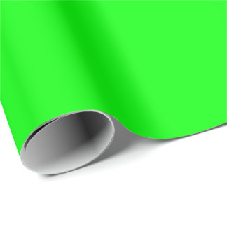 Custom colored Neon Green Wrapping Paper