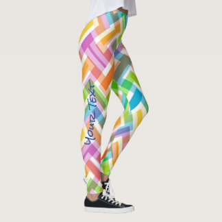 Custom Colorful Abstract Pattern Leggings