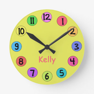 Custom Colorful Kids Big Number Clock