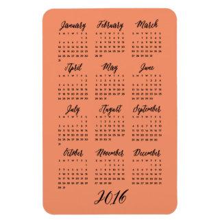 Custom Colors 2016 Calendar Magnets