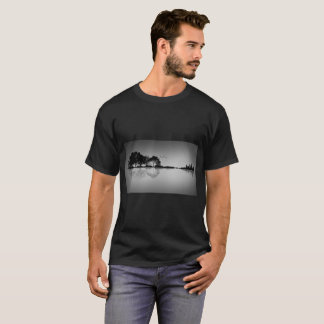 Custom Colour Black Guitar Water Reflection T T-Shirt