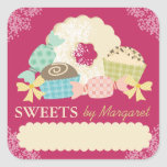Custom colour candy truffle cookie food labels