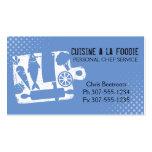 Custom colour cutting board food utensils recipe pack of standard business cards