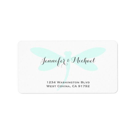 Custom Colour Dragonfly Address Label Template