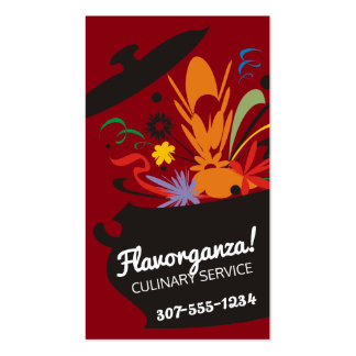 Custom colour flavour burst aromas chef culinary business card