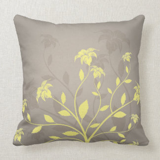 custom colour floral throw pillow