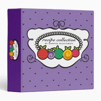 Custom colour fruits personal cookbook recipe book vinyl binders