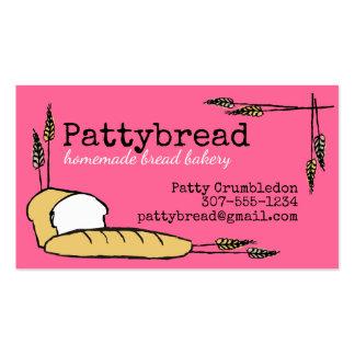 Custom colour homemade bread wheat bakery business card