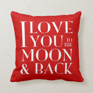 Custom Colour I Love you to the moon & back Throw Pillow